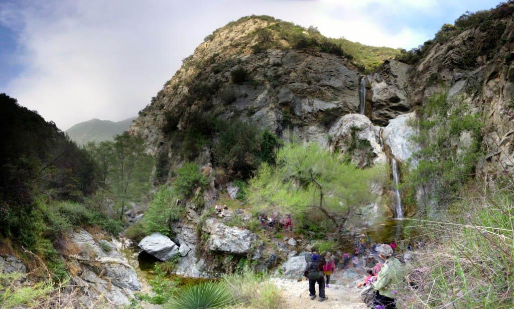 Fish Canyon Falls panorama