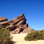 Hiking at the famous Vasquez Rocks