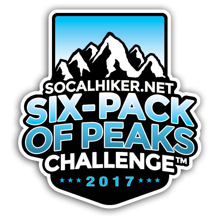 2017 Six-Pack of Peaks Sticker
