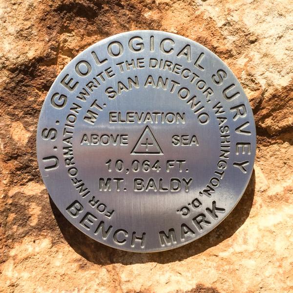 Mt San Antonio (Mt Baldy) Benchmark