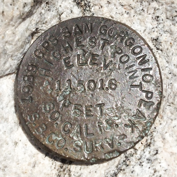 The actual San Gorgonio benchmark