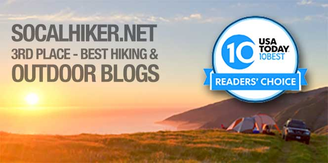SoCalHiker was selected one of USA TODAY's 10 Best Hiking and Outdoor Blogs