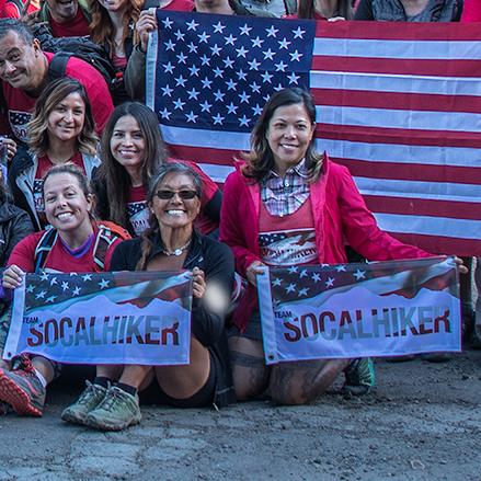 Team SoCalHiker Summit Flags