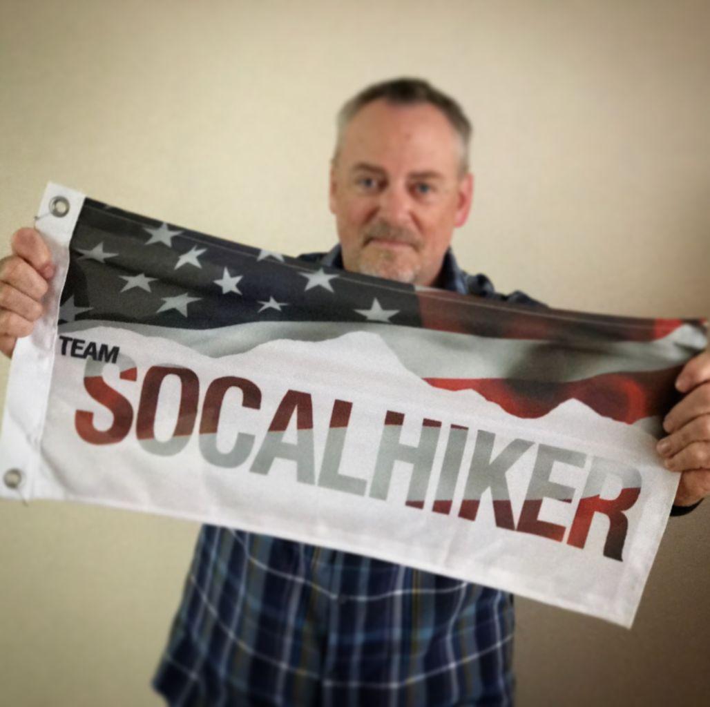 SoCalHiker Red, White & Blue Summit Flag