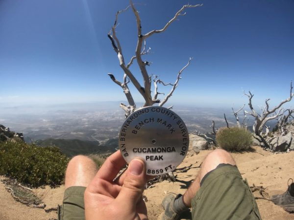 Benchmark at Cucamonga Peak