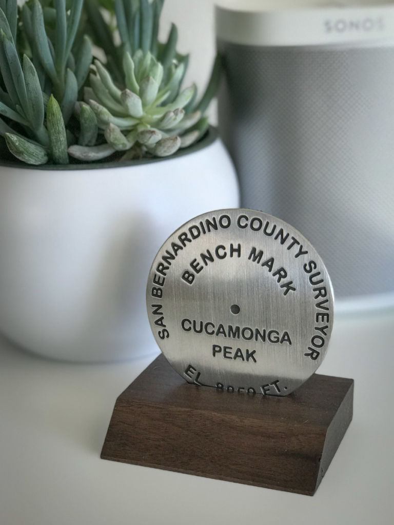 Cucamonga Peak benchmark (base not included)