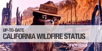 Get up-to-day wildfire status throughout California